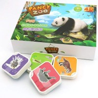 FLASH CARD Fancy Zoo 4D isi 68 kartu / Mainan Edukasi