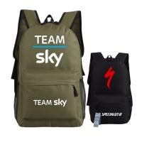 Tim Sky Pro Siklus Pencetakan Ransel Unisex Ransel Perjalanan untuk