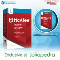 PROMO! McAfee® Internet Security 1Device 3Years FREE MOBILE SECURITY!