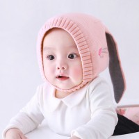 Harga topi kupluk rajut hangat bayi perempuan aksen telinga rusa lucu   antitipu.com
