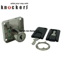 Drawer Lock/Kunci Laci Knockers KLE-22 (19mm) aksesoris rumah tan