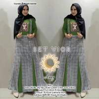 Set Vior/Inner Waffle HQ Mix Outer Cotton Linen/Overall/Setelan LV