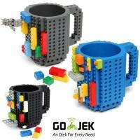 Gelas Mug Lego Hitam Biru - B056