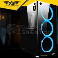 Armaggeddon INFINEON 1000 Tempered Glass Gaming Case - Non PSU