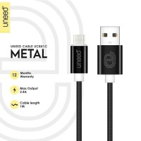 UNEED Metal Kabel Data Type C 1M Max Current 2.4A - UCB01C