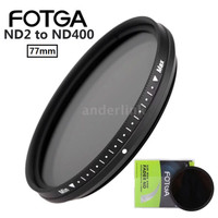 FOTGA 77mm Slim Fader Variable ND Filter ND2 To ND400