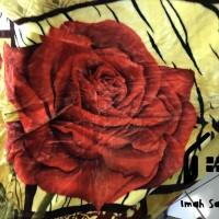 Selimut Champion Buludru Super Soft Blanket 180x210 180cm Bunga Merah