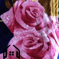 Selimut Champion Buludru Super Soft Blanket 180x210 180cm Bunga Pink