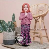 Baju Muslim Anak / Gamis Anak SET SHIREEN BATIK / SETELAN KEBAYA ANAK