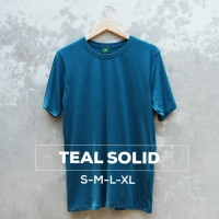 New KAOS POLOS COTTON COMBED 30s WARNA TEAL SOLID/BIRU ITB Size S M L