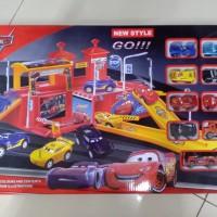 Mainan Anak Racing Cars 3 isi 9 Pcs Parking Garage NEW STYLE 660-A110