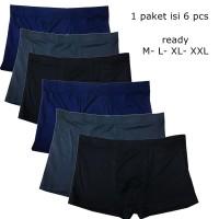 VM - 6 pcs Boxer Celana Dalam Polos Spandek Stretch