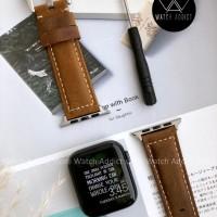 Strap Apple Watch IWO Series Genuine Leather Coklat 44mm 42mm