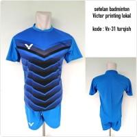 Baju Kaos kostum setelan badminton Victor VX-31 Turqish
