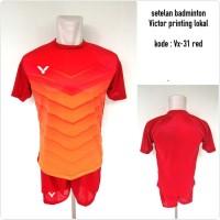 Baju Kaos kostum setelan badminton Victor VX-31 Red