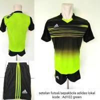 Baju Kaos kostum setelan futsal adids AD102 green