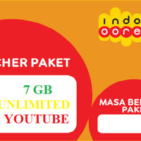 Voucer data Indosat 7GB + unlimited