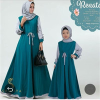 baju muslim couple ibu anak maxi dress bdrenata couple tanpa hijab