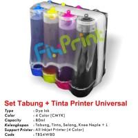 Tabung Infus + Tinta Printer Canon, Epson, Brother, Universal Ink 80ml