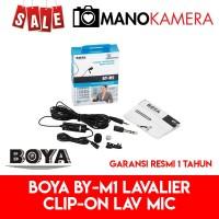 Boya BYM1 Lav Mic BY-M1 Lavalier Microphone Smartphone DSLR Mirrorless