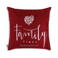 Sarung Bantal Minimalis #9 Family First