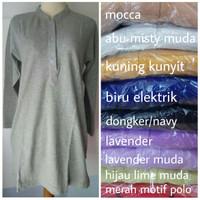Polo Shirt - Kaos Polo Wanita Lengan Panjang Size XL
