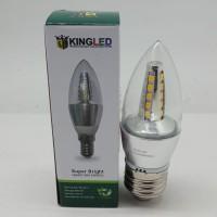 Lampu Bohlam Bola Led Candle Clear Kingled 4,5W E27