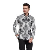 Alisan Kemeja Lengan Panjang Batik Kombinasi Hijau BTKKB10388LS