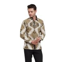 Alisan Kemeja Lengan Panjang Batik Kombinasi Kuning BTKKB10388LS