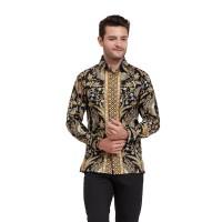 Alisan Kemeja Lengan Panjang Batik Kombinasi Biru BTKKB10431LS