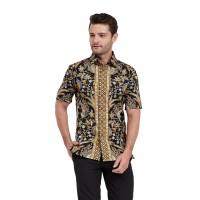 Alisan Kemeja Lengan Pendek Batik Kombinasi Biru BTKKB10431SS