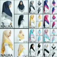 khimar hijab jilbab instan 2 layer naura two color 8