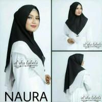 khimar hijab jilbab instan 2 layer naura two color 29