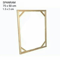 SPANRAM Frame Rangka Kayu 75x50 cm