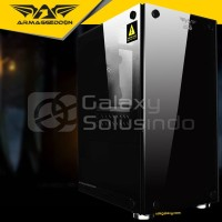 Armaggeddon INFINEON 1000 Tempered Glass Gaming Case - Non Fan Non PSU
