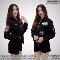 Jaket Bomber Wanita Premium Jaket Canvas Cewek Terbaru Trendy Murah