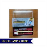TERLARIS Lancing Device Pen Bekam Stainless Gold Dus Hijau SM 228