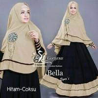 Harga model baru gamis baju pakaian wanita muslim bella   Pembandingharga.com