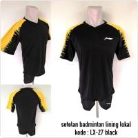 Kostum baju badminton Lining LX-27 black