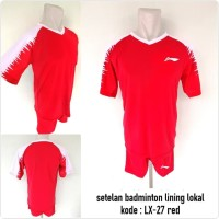 Kostum baju badminton Lining LX-27 red