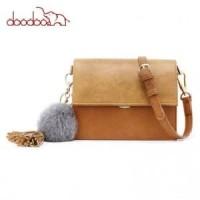 D1070 - Doodoo Tas Selempang Messenger Bag - Brown