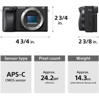 Sony Alpha a6400 Mirrorless Body Only + Lens 18-105mm Bundling
