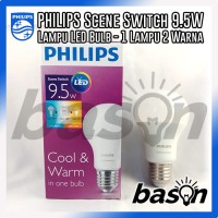 PHILIPS Scene Switch LED Bulb 9.5W | Cahaya Putih dan Kuning