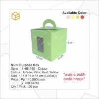 Cake Box, Dus Kue, Box Kue, Gift Box, Cookies Box Merah #401515-R