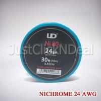 Authentic UD Nichrome Ni80 24 AWG 30 Feet Kawat Vape Vapor