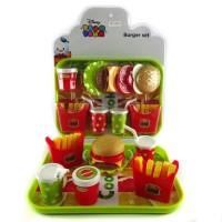 Burger Set / Mainan Anak Disney Tsum-Tsum Sajian Makanan Kentang Minum