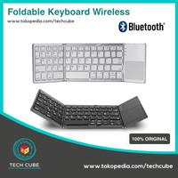 Keyboard Lipat Foldable Keyboard with Touchpad Wireless Bluetooth Fold