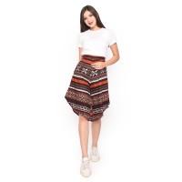 Celana Kulot Batik Wanita 30100089 Katun Premium Merah Bata