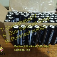 Jual Baterai 18650 senter swat police ultrafire black batere batre