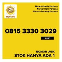 Kartu Perdana MENTARI Nomor Cantik Hoki Ganteng 081533303029